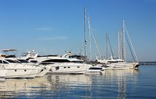Free Row Of Yachts In Marina Stock Image - 19760811