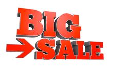 BIG SALE Text Royalty Free Stock Photography