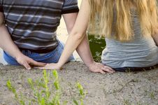 Free Loving Couple Hands Stock Photography - 19761302