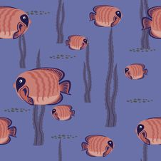Free Seamless Pattern Red Fish Stock Photography - 19762002