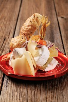 Cheese And Roll Stock Images