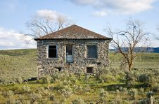 Old Abandoned Stone House Stock Photos