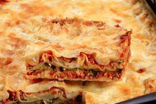 Free Tasty Lasagna Royalty Free Stock Photo - 19762785