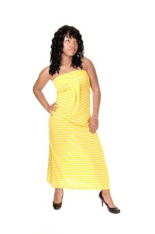 Free Girl With Yellow Dress. Royalty Free Stock Photography - 19762787