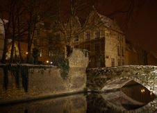 Free Canal By Night, Bruges. Royalty Free Stock Photos - 19763018