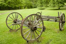 Free Historic Wooden Wagon Wheels Royalty Free Stock Image - 19763306
