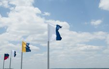 Free Flags In The Wind Stock Image - 19763331