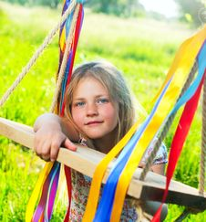 Free Young Girl On Swing Stock Photo - 19763960