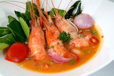 Free Tom Yam Kung. Spicy Shrimp Soup Stock Photos - 19764093