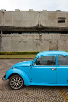 Old Car And Old Wall Stock Photography