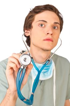 Free Young Doctor Listening Royalty Free Stock Photo - 19765165