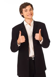 Happy Business Man Showing Thumbs Royalty Free Stock Photo