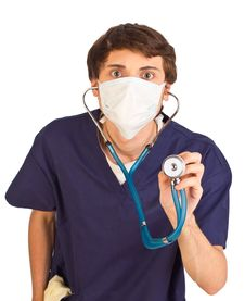Free Worried Medical Worker Stock Photo - 19765190