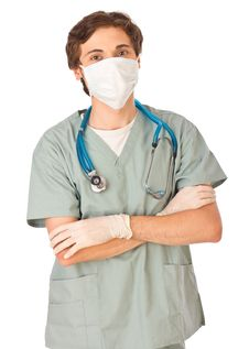 Free Attractive Young Doctor In A Mask Royalty Free Stock Photography - 19765197