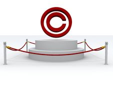 Free 3d Copyright Sign Stock Photography - 19765392