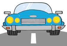 Free Blue Convertible Car Stock Photo - 19765480