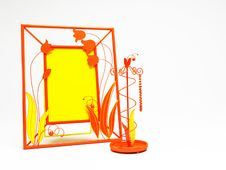 Orange And Yellow Forged Frame Stock Photography
