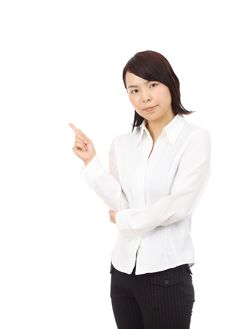 Free Portrait Of Young Asian Business Woman Pointing Stock Photo - 19765870