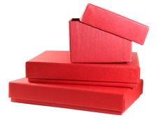 Free Red Boxes For Present Stock Photography - 19765892