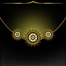 Free Ornament On The Radiant Background Royalty Free Stock Image - 19766466