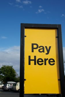 Free Pay Here Stock Images - 19766494