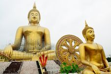 Free Giant Buddha Statues Royalty Free Stock Photo - 19766515