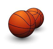 Free Sport Game Basketball Orange Color Isolated Stock Photo - 19766630
