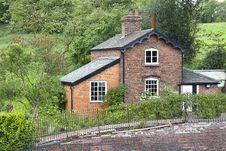 Railway Cottage Royalty Free Stock Photos