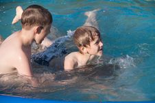 Free Two Boys In Water Stock Image - 19767641