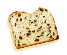White Bread With Raisin Isolated On White Stock Photo