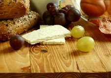 Free Goat Cheese On Old Wooden Royalty Free Stock Image - 19768216