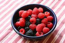 Free Blackberries And Raspberries In A Bowl Royalty Free Stock Photography - 19768607