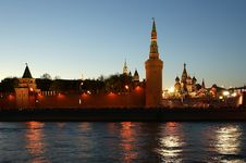 Free Russia, Moscow. Night View Of The Kremlin Stock Photos - 19768623