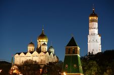 Free Russia, Moscow. Night View Of The Kremlin Royalty Free Stock Photography - 19768637
