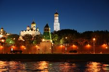 Free Russia, Moscow. Night View Of The Kremlin Royalty Free Stock Photos - 19768638