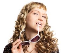 Free Beautiful Woman With Sunglasses Stock Image - 19768711