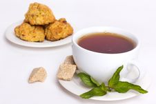 Free Black Tea With Biscuits Stock Photos - 19768723