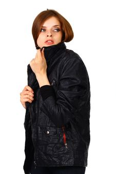 Free Girl In Black Jacket Stock Photos - 19768983