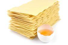 Free Lasagna And An Egg Royalty Free Stock Image - 19769206