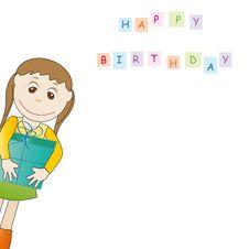 Free Birthday Card Royalty Free Stock Photos - 19769418