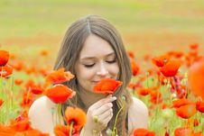 Free Young Girl In The Flowers Stock Photography - 19769562