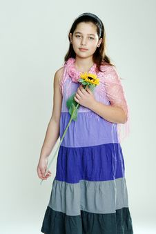 Free Girl With Flower Royalty Free Stock Images - 19769729