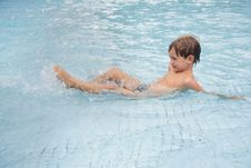 Young Boy In Pool Royalty Free Stock Photography