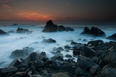 Free Sunset Over Rocky Coast, Corsica Royalty Free Stock Photography - 19770057