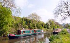 Free Green Narrowboat Royalty Free Stock Photography - 19770157
