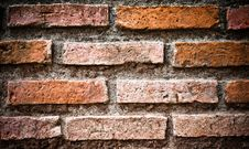Brick Wall Grungy Stock Photography