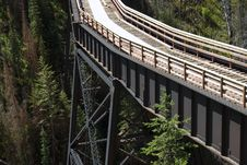 Free Steel Trestle In Myra Canyon Stock Photography - 19770282