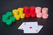 Free Poker Aces And Chips Royalty Free Stock Photo - 19770915