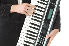 Free Music Synthesizer In Hand Royalty Free Stock Photos - 19771238