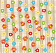 Free Flower Seamless Background Design In Vector Stock Image - 19771331